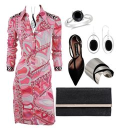 """""""Retro Reworked"""" by sommer-reign ❤ liked on Polyvore featuring Emilio Pucci, Steve Madden, Jimmy Choo, Alexis Bittar, Liz Claiborne, Sirena and Ice"""