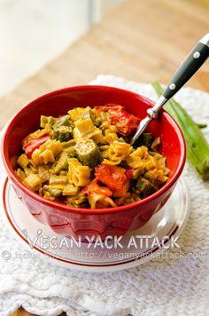 Cajun Mac 'n' Cheese, Jackie of Vegan Yack Attack  Mac n cheese with okra in it!!! YAASSS!!!