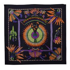 Magnificent Hermes Silk Brazil Scarf | From a collection of rare vintage scarves at https://www.1stdibs.com/fashion/accessories/scarves/
