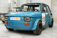 """It's a Polski Fiat modified to paticipate in Maluch-Trophy racing series. """"Maluch"""" (means: the small one) is a very popular in Poland nickname for this car. Fiat 500, Fancy Cars, Cool Cars, Kei Car, Fiat Cars, Car Polish, Cafe Bike, Fiat Abarth, Steyr"""