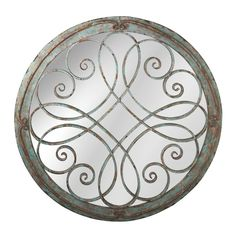 Victory Round Scroll Wall Mirror