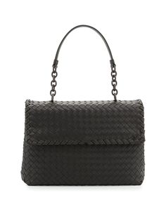 Bottega Veneta Olimpia Medium Shoulder Bag Charcoal   Buy replica watches 98ec6331bc36e