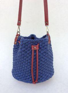 Crochet Bag Blue Red