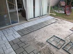Pathmate Stone Mold Paving Concrete Stepping Garden Random NEW Pattern Pavement #Quikrete