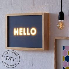 love this diy light box from Etsy Diy Luz, Neon Box, Licht Box, Led Diy, Ideias Diy, Deco Design, Diy Wood Projects, Diy Kits, Craft Kits