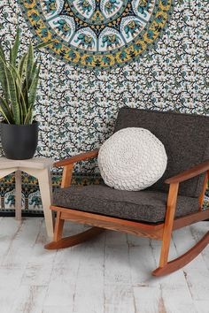 I need that chair and pillow.  Urban Outfitters - Crochet Round Pillow $34.00
