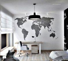 jeden z ciekawszych pomysłów na ścianę w biurze