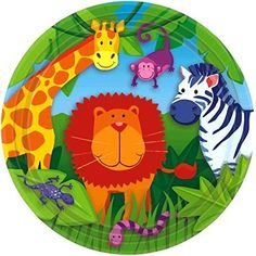 "Amscan Colorful Jungle Animals Round Dessert Plates, 7"", ... https://www.amazon.com/dp/B001BOGMY2/ref=cm_sw_r_pi_dp_x_QWslyb1PQZDMY"