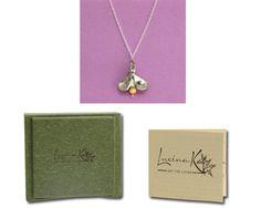handmade firefly necklace