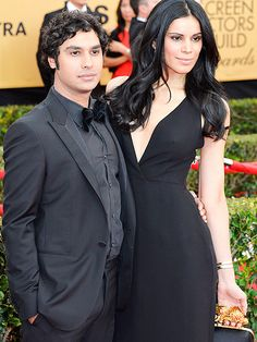 SAG Couples That Are Too Cute to Handle | LOOK OF LOVE | The Big Bang Theory star Kunal Nayyar and his stunning wife Neha Kapur almost look like they practiced their matching red carpet stares.