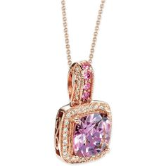 Le Vian Multi-Gemstone (1-5/8 ct. t.w.) & Diamond (1/5 ct. t.w.)... ($2,711) ❤ liked on Polyvore featuring jewelry, rose gold, rose gold diamond jewelry, sparkling jewellery, pink diamond jewelry, rose gold pendant necklace and diamond jewelry