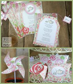 tea party favors | Tea Party Printables DIY Party Supplies and by PressPrintParty, $15.00