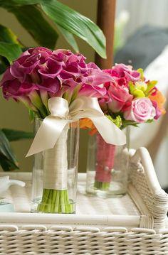 Hemingway pink mini calla bouquet
