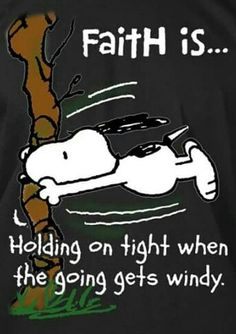 My life is windy right now but I have faith that everything will be fine! I know God has a plan for me. Meu Amigo Charlie Brown, Charlie Brown And Snoopy, Peanuts Quotes, Snoopy Quotes, Faith Quotes, Bible Quotes, Bible Verses, Scriptures, Snoopy Love
