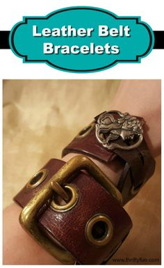 This is a guide about making leather belt bracelets. Make a unique bracelet using an old belt.