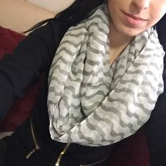NWT Grey and White Infinity Scarf NWT Grey and White Scarf ... Double wrapped in pic 2 scarves=$12 3 scarves=$18 4 scarves=$22 Accessories Scarves & Wraps
