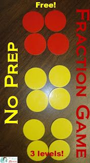 The Elementary Math Maniac: No Prep Differentiated Fraction Game