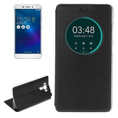 [$2.34] For Asus Zenfone 3 Laser ZC551KL Litchi Texture Horizontal Flip Leather Case with Call Display ID & Wake-up Function(Black)