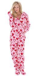 Hoodie-Footie for Women - Sweetheart Snuggle Fleece (TM)  $79.99   #pintowinGifts @giftsdotcom