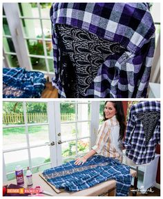 @tmemme28 amps up your flannel game with a lace insert! Catch #homeandfamily weekdays at 10/9c on Hallmark Channel!