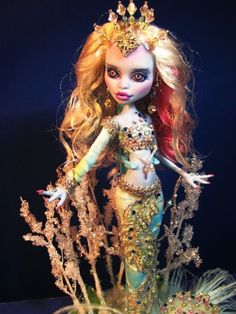 Abby Bominable Monster High Doll customized and repainted into a stunning OOAK Mermaid. 2013