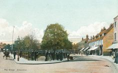 Edmonton Green, looking south, hand-coloured postcard, c. c/o Pete Stone Vintage London, Old London, Finsbury Park, Local History, Family History, Public Realm, North London, N21, Historical Photos