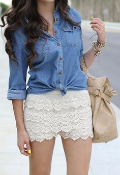 Steal The Look Fashion Mode Outfits, Casual Outfits, Fashion Outfits, Fashion Hair, Fashion Ideas, Fashion Jewelry, Fashion Trends, Lace Short Outfits, Spring Summer Fashion