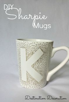 Make your own Sharpie mugs using Dollar Tree mugs and oil-based Sharpie markers.  Perfect for gifts!