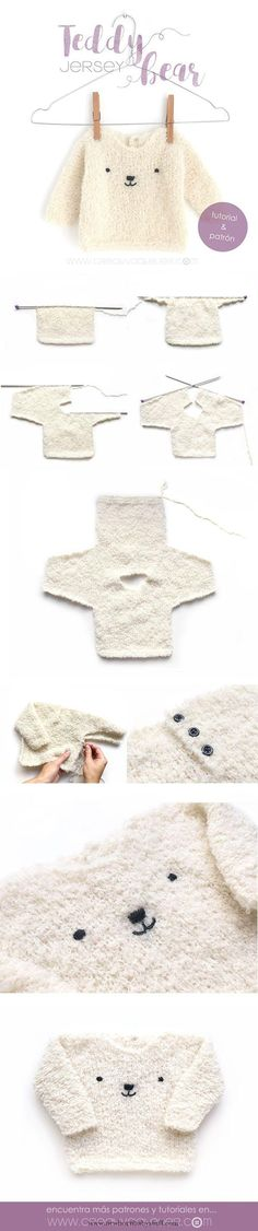 Baby Knitting Patterns Jersey de bebé de punto – Teddy Baby...