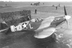 American Supermarine Spitfire Mk Vb code MD-L of the 4th Fighter Group, 336th Fighter Squadron