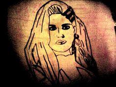 Desenho que fiz de Alissa White-Gluz ex-vocalista da banda The Agonist