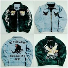 Vintage Tailor Toyo Japanese Japan Tattoo Art Yokota Air Base Tiger Tora Reversible Velour Velvet Velveteen Emerald Green Blue Embroidery Embroidered Bomber Sukajan Souvenir Jacket (SIZE: S ) ORIGINAL: 540.00 USD SALE: 424.75 USD SKU: SK2280 EMS Japan Shipping Shop @ japanloverme-store.com Gallery: japanlover.me/sukajan @japanloverme | @japanloverme.store #Japan #JapanLoverMe #Sukajan #スカジャン #Skajan #BadassJackets #Souvenirjacket #SukajanJacket #SouvenirJackets #SukajanJapan