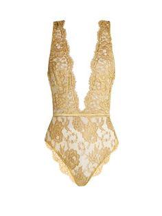 Gaia rouleau-button lace bodysuit | Coco De Mer | MATCHESFASHION.COM