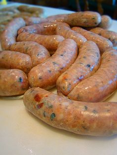 [USA] Chicken Sausage with Sun-Dried tomatoes, Basil, Cheese - Homemade Sausage Making Homemade Sausage Recipes, Meat Recipes, Chicken Recipes, Cooking Recipes, Homemade Turkey Sausage, Homemade Cheese, Home Made Sausage, How To Make Sausage, Sausage Making