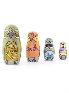 Were A Hoot Owl Nesting Dolls by This Thing Called Family, Green...love!!!