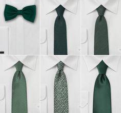 Wedding Ties in Tropical Green - Groomsmen Ties in Palm Leaf Green