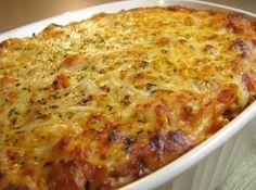 Macarrão de forno delicioso! Vem ver a receita! #food #cybercook #receita #recipe #comida #macarrao #pasta #cheese #queijo #frango #chicken