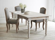 Shop Our Collection Of Solid Wood Dining Tables With Elegant Fabric Dining  Chairs To Match. Part 16