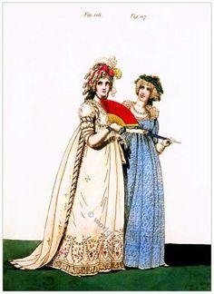 Regency Queen Elizabeth's ruff of bread lace. Gallery of Fashion 1796.