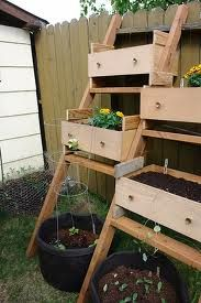 This is a unique twist on a raised bed garden.