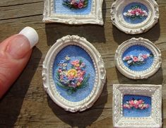 miniature embroideries