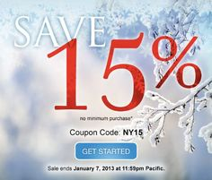 *LIMITED TIME OFFER. NY15 coupon and offer expires January 7, 2013 at 11:59 p.m. Pacific. NY15 coupon is good for 15% off new products and services. No minimum purchase required. All renewals on products and services after the initial discounted period will be charged at the then current standard list price for the selected period. Coupon is not valid with certain TLDs, renewals, transfers, custom website design, other coupons, or special pricing.