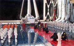 Cena de Star Wars feita de Lego. #Lego #StarWars