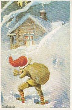 Eeli JAATINEN David The Gnome, Old Cartoons, Scandinavian Christmas, Forest Animals, Red Hats, I Fall In Love, Faeries, Gnomes, Elves