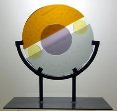 Abstract Art Glass Mid Century Modern Circular by coastalartglass, $180.00