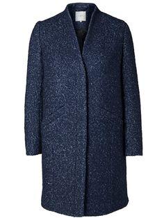 SFLiona Coat in Navy Melange by Selected Femme