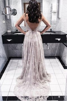 Charming A-Line Spaghetti Straps Backless Long Prom Dress with Appliques Sleeveless Prom Dresses, Prom Dresses Backless, Prom Dresses A-Line, Appliques Prom Dresses, Prom Dresses Lace Prom Dresses Long Prom Dresses 2018, Backless Prom Dresses, Tulle Prom Dress, Dress Up, Formal Dresses, Wedding Dresses, Dress Long, Backless Wedding, Long Dresses