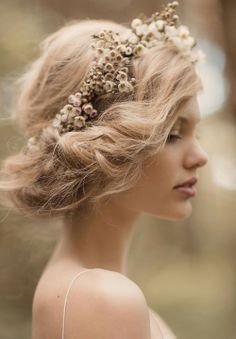I don't really know if I would ever do this but I think its a nice style for a bride and it's pretty and who know maybe I would it's really pretty on this girl.
