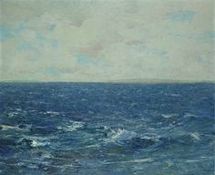 Georges Cosmadopoulos (Greek, 1895-1967), Sea. Oil on board, 58.5 x 72cm.