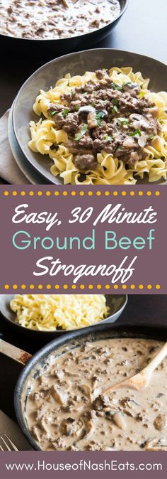Looking for a great, classic weeknight dinner option that the whole family will love? This Ground Beef Stroganoff recipe is ready in less than 30 minutes, made from scratch without cream of mushroom